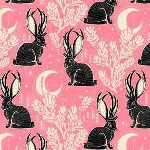 Jackalope - large - pink & black
