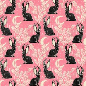 Jackalope - medium - pink black