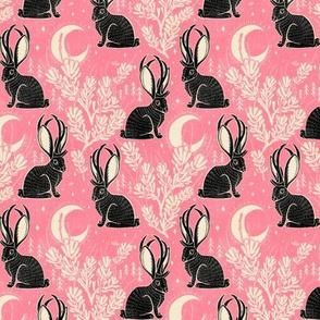 Jackalope - small - pink & black