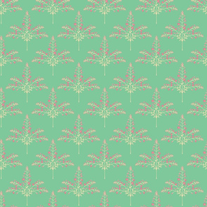 Pashmina - Delicate Floral Grasses in Pink Cream Turquoise - SMALL-Scale - UnBlink Studio by Jackie Tahara