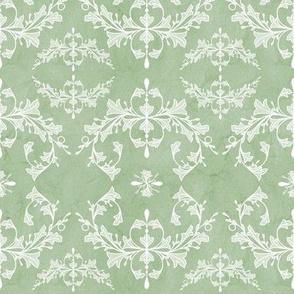 Medium Light Sage Green Rococo