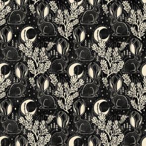 Jackalope - medium - black and cream
