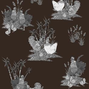 Caribe Yardbird - Cocoa / Monochrome