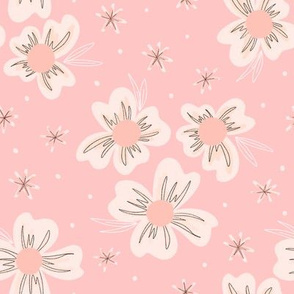 Blooms on Pink