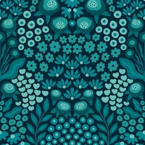 Thousand Flowers - Regular Scale Blue
