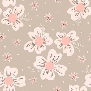 Blooms on Greige