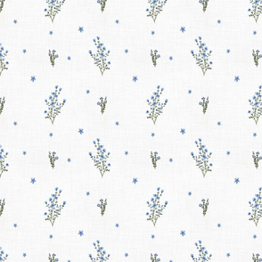 Blue Forget Me Not (White)