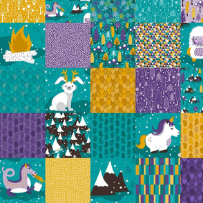 Crypto Critters Cheater Quilt