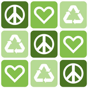 Peace. Love. Recycle. 2.0 (XL)   Green