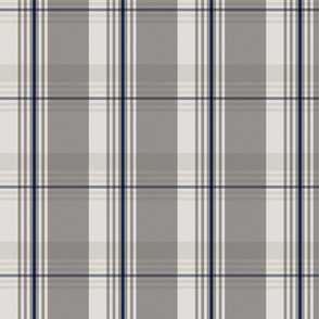Blue and beige plaid