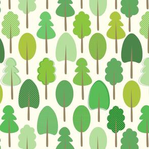 Forest Trees - Cream