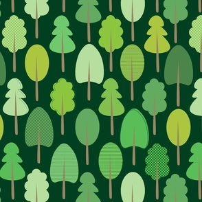 Forest Trees - Green