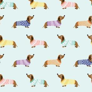 Doxie in Sweaters Mint (Medium)