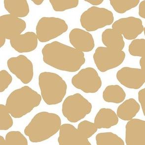 Little boho camel pebbles animal print abstract baby neutral nursery soft honey yellow LARGE