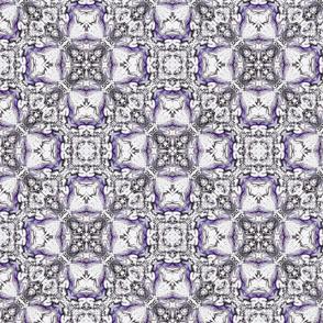 Amethyst purple and white circle and diamond pattern-ch