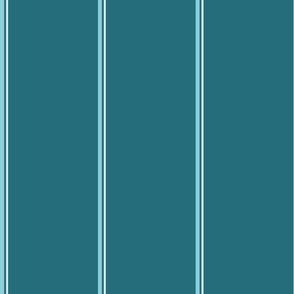 Blue monochromatic stripes against a calypso blue background