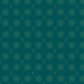 Mystical dandelions - guacamole _ teal green