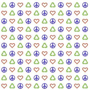 Peace. Love. Recycle. 2.1 (1/2 scale)   Multi