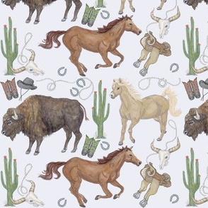 Western Wear Wild Horses On Brown