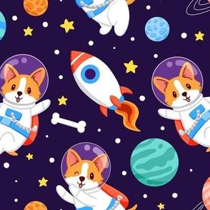 Corgi in Space
