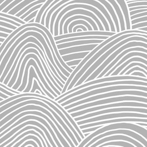 Ocean waves and surf vibes abstract salty water minimal Scandinavian style stripes soft gray WALLPAPER XXL