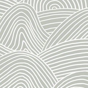 Ocean waves and surf vibes abstract salty water minimal Scandinavian style stripes mist green white WALLPAPER XXL