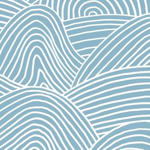 Ocean waves and surf vibes abstract salty water minimal Scandinavian style stripes cool blue water WALLPAPER XXL