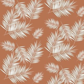 palm leaves - terracotta small