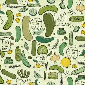 pickles design extra speech bubbles I'm kinda a big dill / pickle