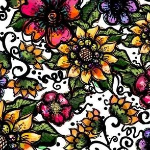 Boho Sunflowers