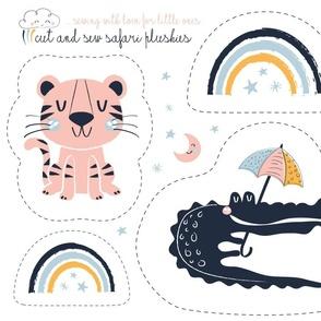 safari baby nursery - plushies cut & sew