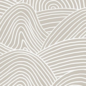 Ocean waves and surf vibes abstract salty water minimal Scandinavian style stripes soft beige warm gray neutral WALLPAPER XXL
