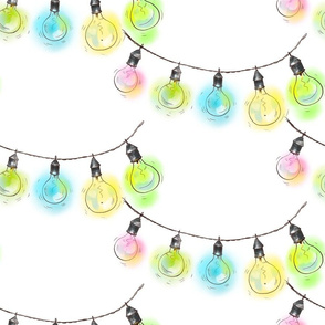 Colorful garland on white