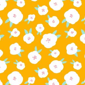 "BUNNY HOP FLOWERS orange 12"""