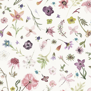 hand drawn flowers softer