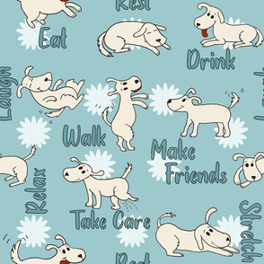 Doggie Breakroom Spoonflower Challenge
