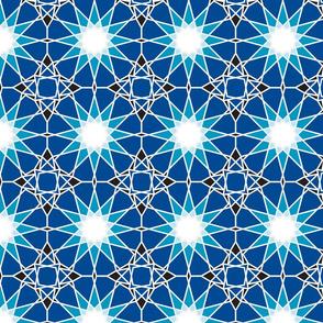 Moorish tile pattern, starry night