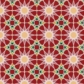 Moorish tile patter, rose garden