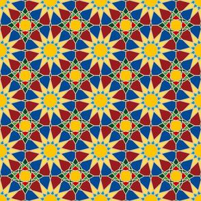 Moorish tile pattern, jewels