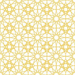 Moorish tile pattern, golden lattice