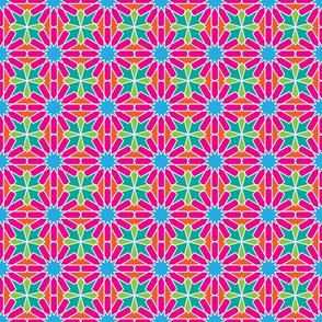 Moorish tile pattern, flower child