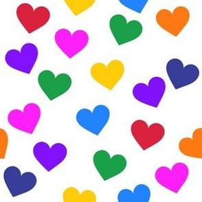 Bright rainbow hearts (medium)