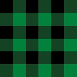 "3"" buffalo check - green and black"