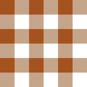 "3"" buffalo check - brown and white"