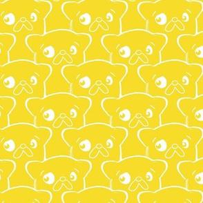 Scalloped Pups Yellow (Lg)