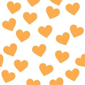 Orange hearts on white (medium)