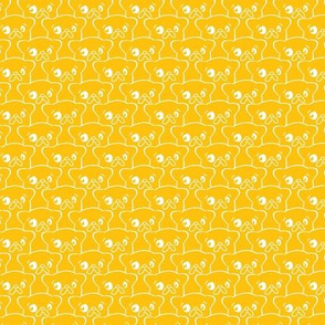 Scalloped Pups Vibrant Yellow (Sm)