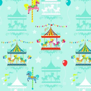 Colorful Carousels on Mint