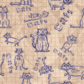 cats_crumpled_paper_pattern