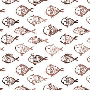 Boho fish - watercolor earthy sea vibes p2